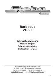 STEBA Barbecue VG 90 (Datei: steba_vg90.pdf - 433 kb)