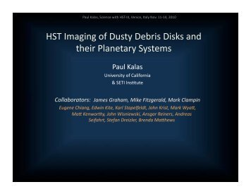 HST Imaging of Dusty Debris Disks and their Planetary Systems
