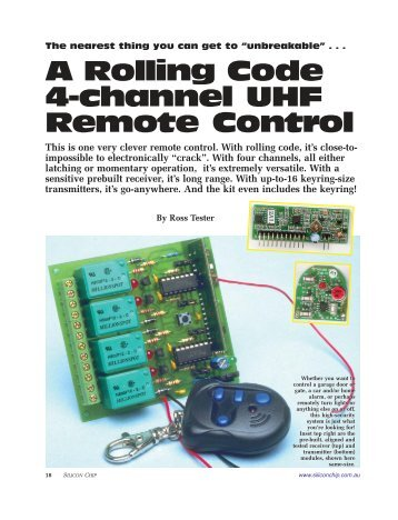 A Rolling Code 4-channel UHF Remote Control - Kitsrus