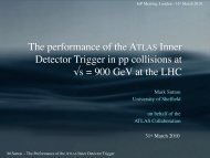 The performance of the ATLAS Inner Detector ... - UCL HEP Group