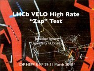 """LHCb VELO High Rate """"Zap"""" Test - UCL HEP"""