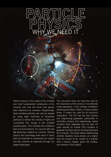 why we need it - High Energy Physics