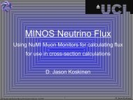 MINOS Neutrino Flux - High Energy Physics - UCL