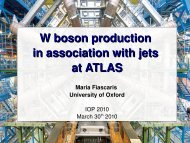 Why W + Jets? - High Energy Physics