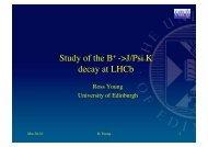 Study of the B+ ->J/Psi K decay at LHCb - High Energy Physics