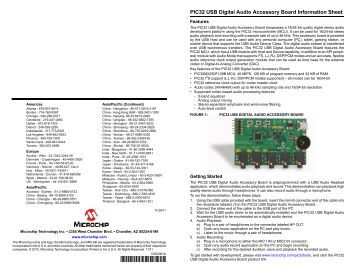 USB/SD Host Audio Media Decoder Evaluation Board Manual