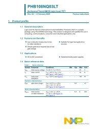 PHB108NQ03LT N-channel TrenchMOS logic level FET