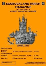 eggbuckland parish magazine includes news of christ church ...