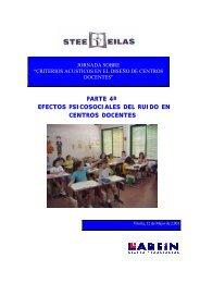 Efectos Psicosociales del Ruido en Centros Docentes - Stee-Eilas