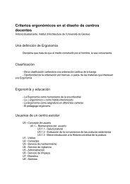Criterios ergonómicos en el diseño de centros docentes - Stee-Eilas