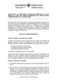 CIRCULAR DE LA DIRECCIÓN DE GESTION DE ... - Stee-Eilas