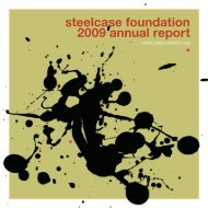 steelcase foundation 2009 annual report