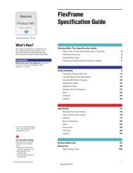 FlexFrame Specification Guide - Steelcase