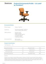 Product Environmental Profile – ą la carte® by Turnstone® - Steelcase
