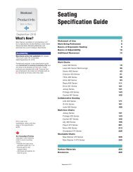 Seating Specification Guide - Steelcase