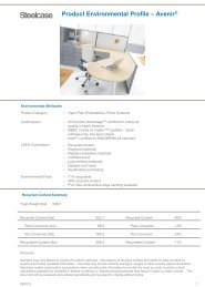 S Product Environmental Profile – Avenir® - Steelcase