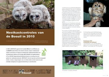 Nestkastcontroles van de Bosuil in 2010 - STeenuil Overleg ...