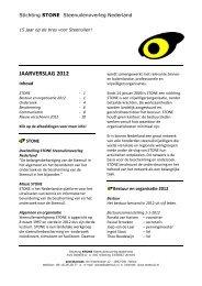 Jaarverslag 2012 - STeenuil Overleg NEderland
