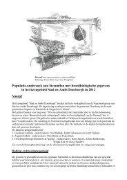 Populatie-onderzoek aan Steenuilen met broedbiologische ...