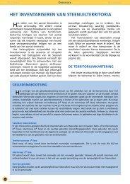 het inventariseren van steenuilterritoria - STeenuil Overleg NEderland