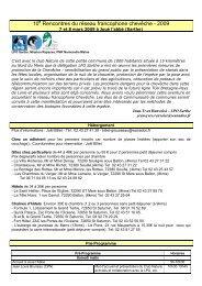 10 Rencontres du réseau francophone chevêche - 2009