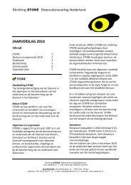 JAARVERSLAG 2010 - STeenuil Overleg NEderland
