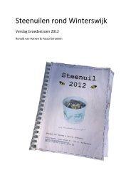 Broedseizoen 2012 - Steenuilen rond Winterswijk