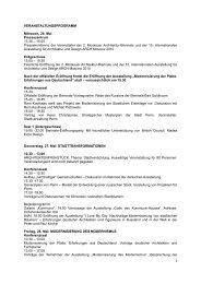 Programm - Stefan Forster Architekten