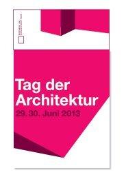 Download Programm (Flyer) - Stefan Forster Architekten