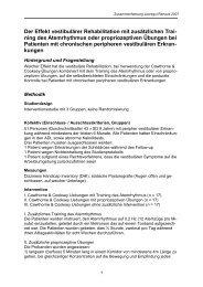 Der Effekt vestibulärer Rehabilitation mit ... - Stefan Schädler