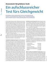 Assessment: Berg Balance Scale - Stefan Schädler