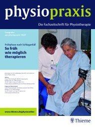 So früh wie möglich therapieren physiopraxis - Stefan Schädler