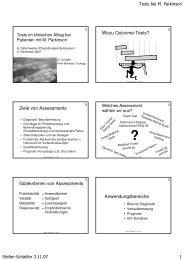 Assessments Parkinson - Stefan Schädler