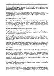 Ipsilaterales Pushing bei Schlaganfall: Auftreten ... - Stefan Schädler