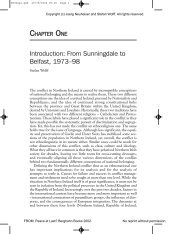Introduction: From Sunningdale to Belfast, 1973–98 - Stefan Wolff