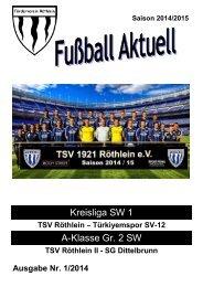 Fußball aktuell Nr. 1 2014/15
