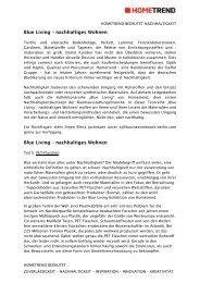 Blue Living – nachhaltiges Wohnen Blue Living ... - Steffel Gruppe