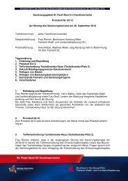 Protokoll des Sanierungsbeirates