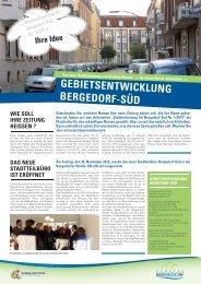 gebietsentwicklung bergedorf-süd - Stadtentwicklungsgesellschaft ...