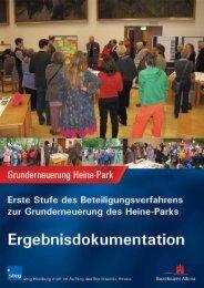 Dokumentation 1. Stufe Beteiligungsverfahren Heine-Park