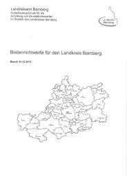 Bodenrichtwerte für den Landkreis Bamberg (Stand: 31.12.2012)