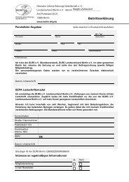 Beitrittserklärung (PDF) - DLRG Steglitz-Zehlendorf