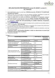 STEICO universal dry Declaration des performances 13171