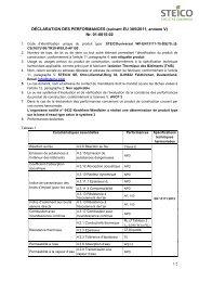 STEICO universal Declaration des performances 13171