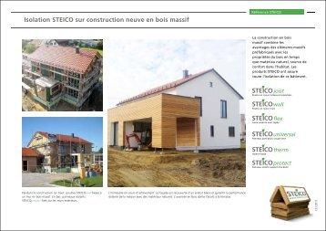 Steico construction mise for Construction en bois massif