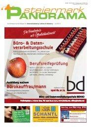 Ausgabe 03/13 - Steiermark Panorama - steiermarkpanorama.at