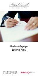Teilnahmebedingungen der Award World. - Steigenberger Hotel ...