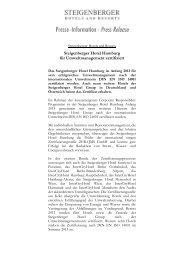 Pressemitteilung als pdf-Dokument - Steigenberger Hotel Group
