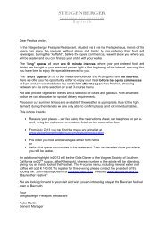 Reservation form Bayreuth Festival - Steigenberger Hotel Group