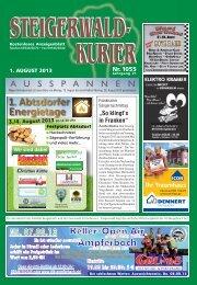 Ausgabe 1055 - Steigerwald-Kurier